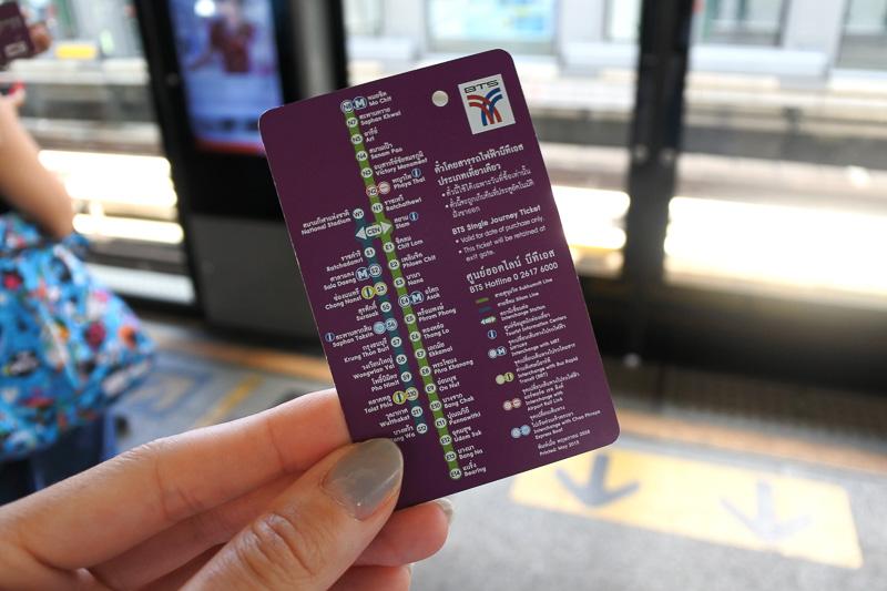 右が通常の1回限りのチケット。左が「One-Day Pass」