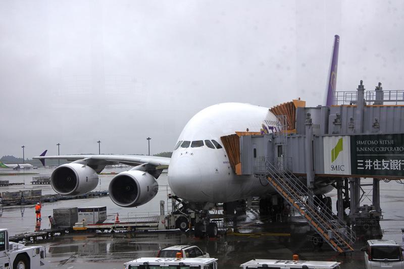 成田国際空港に到着したエアバス A380-800型機