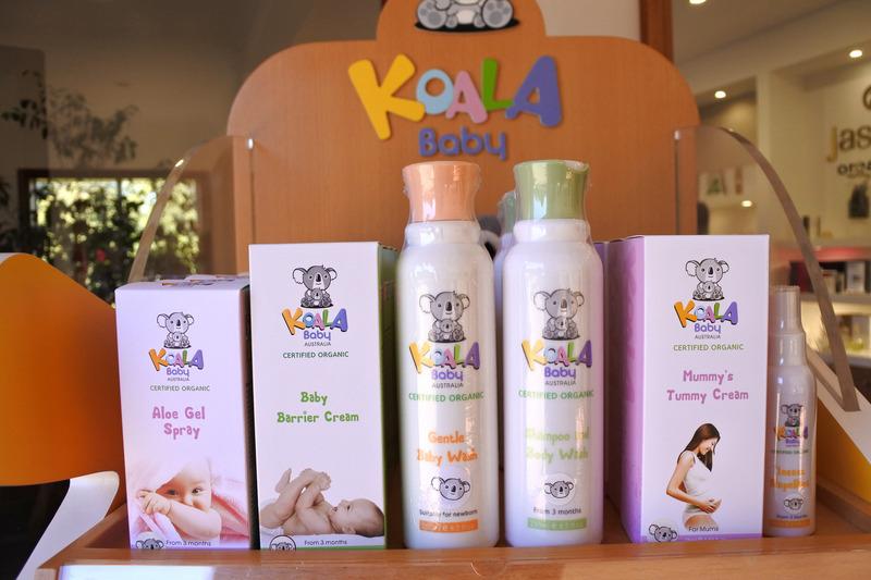赤ちゃんとお母さん向けの「KOALA BABY」はマウント・タンボリンの湧き水や自社ファームで栽培したハーブ、蜂蜜などを使用している