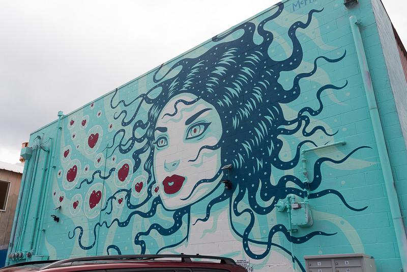 数多くのウォールアートを楽しめるカカアコ地区