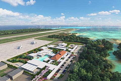 三菱地所、下地島空港の旅客ターミナル建設着工、2019年3月開業予定 三菱地所が下地島空港旅客ターミナル施設を着工