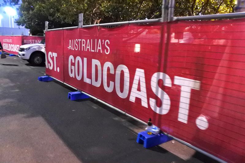 「第39回ゴールドコースト・マラソン」のスタート付近の会場の様子