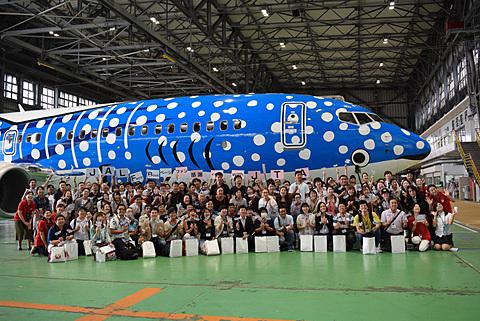 日本トランスオーシャン航空、JAL Facebookページファン感謝イベントで新ジンベエジェット遊覧飛行 JTAがJAL Facebookページファンを対象に新ジンベエジェットで遊覧飛行実施
