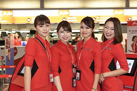 セントレアと新千歳空港を結ぶLCC、エアアジア・ジャパンがついに初便就航 エアアジア・ジャパンのチェンクインカウンターはセントレアの国内線エリアにある
