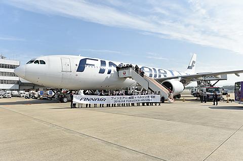 フィンエアー、2018年夏期も福岡~ヘルシンキ線を運航 フィンエアーは2018年夏期スケジュールでも福岡~ヘルシンキ線を運航する(写真は2016年就航時のもの)