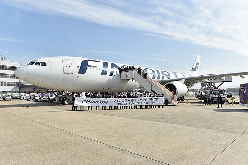 フィンエアーは2018年夏期スケジュールでも福岡~ヘルシンキ線を運航する(写真は2016年就航時のもの)