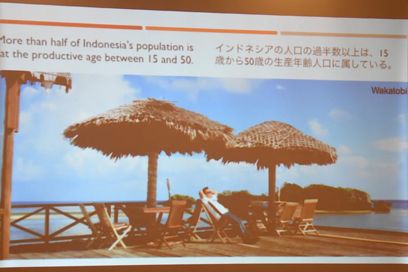 インドネシアの基本情報を説明するスライド