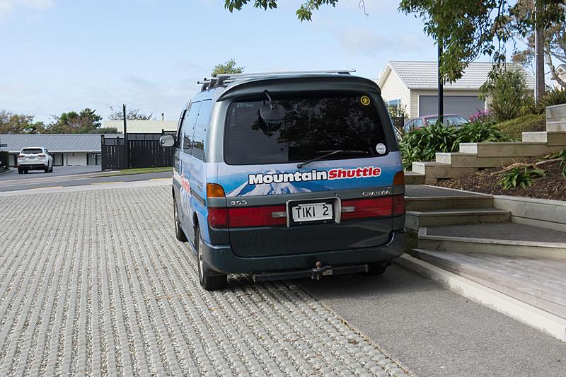 TOP Guidesはニューポリマスで滞在していたホテルとトレッキングコースの間を送迎してもらえる(料金別途)