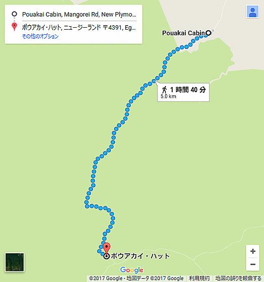 画像左はGoogle Mapsでルート検索してみた結果。画像中央はスマホのGPSでトラッキングしておいたものだが、ほぼ同じルートを示していることを確認できる。ちなみに画像右はGPSによる速度(上)と高度(下)の履歴。速度が落ちているのが徒歩移動を示しており、標高約500~1250mの間を歩いたことが分かる