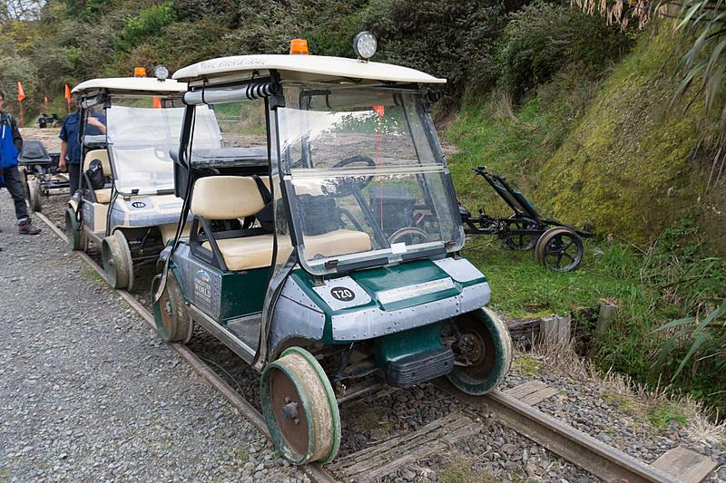 こちらが今回体験するレールカート。こちらも2人乗り