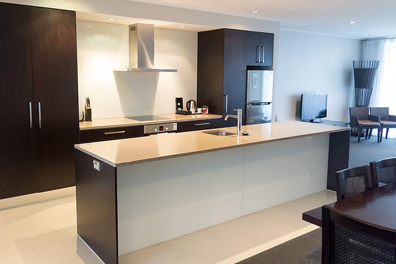 3ベッドルームアパートメント。キッチンなどの設備は1ベッドルームも同様に備える