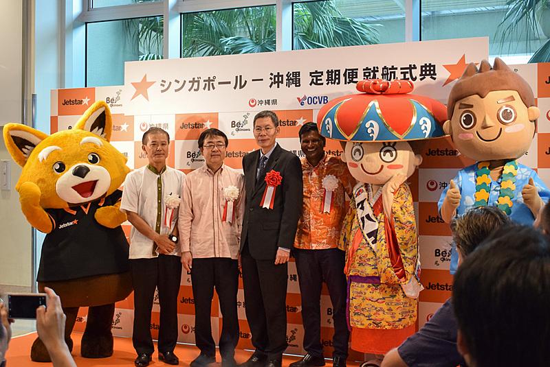 ジェットスター・アジア航空は那覇~シンガポール線を就航した