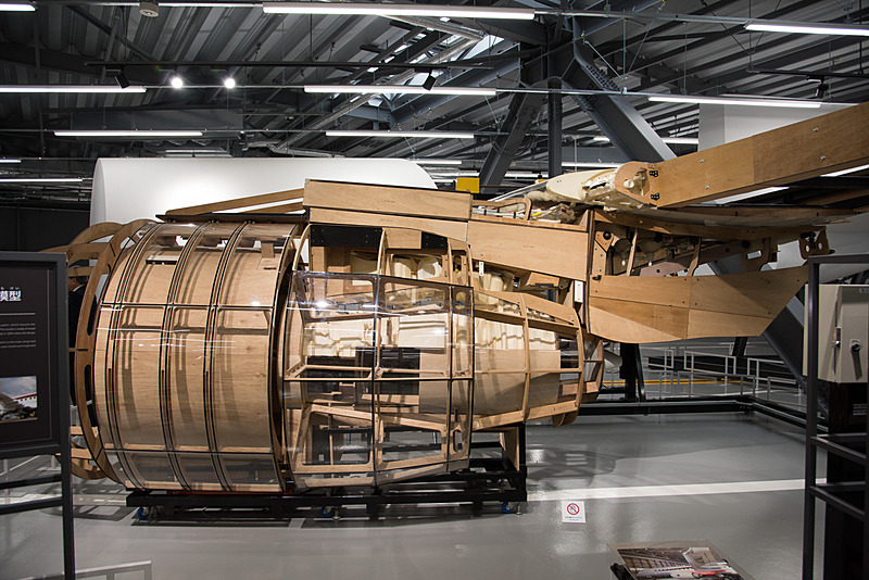 初期段階で作られた実物大エンジン模型