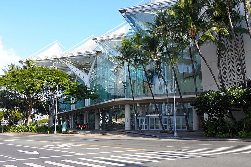 「ハワイ・フード&ワイン・フェスティバル」の「アンコークド」が開催される「ハワイ・コンベンション・センター」