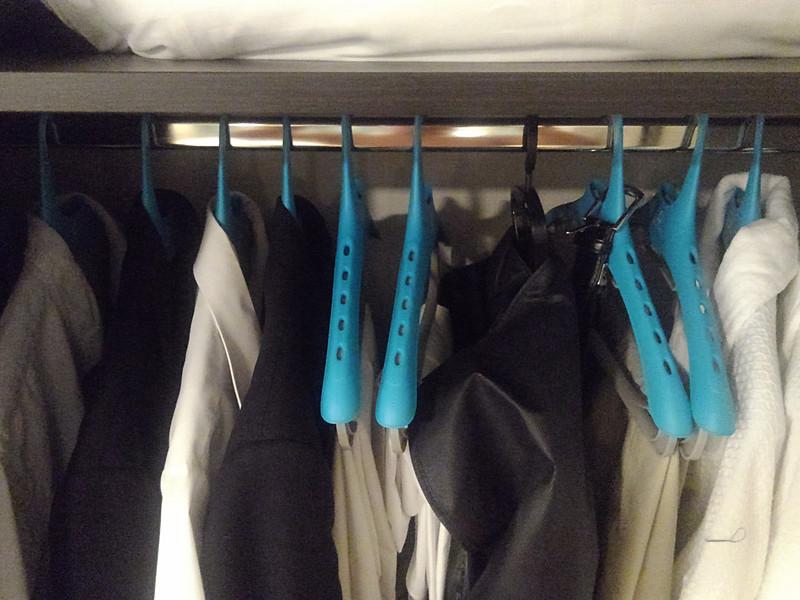 持ち込んだ衣類をすべて収納してみる