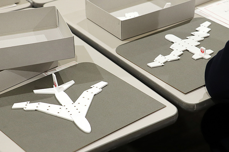 子供たちの飛行機