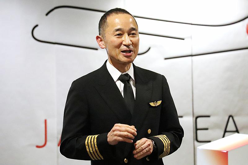 機長の靍谷忠久氏から「チャレンジ」と「アート」についてコメント