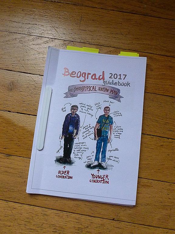 「セルビアン・ウォーカー」からデータをダウンロードして自分で印刷したガイドブック。ベオグラード滞在中大活躍でした