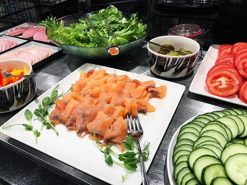 ホテルF6の朝食はフィンランド産のオーガニックフード・野菜を使っています