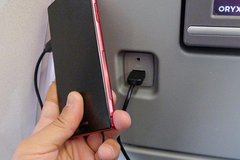 USB電源ポートも各席に