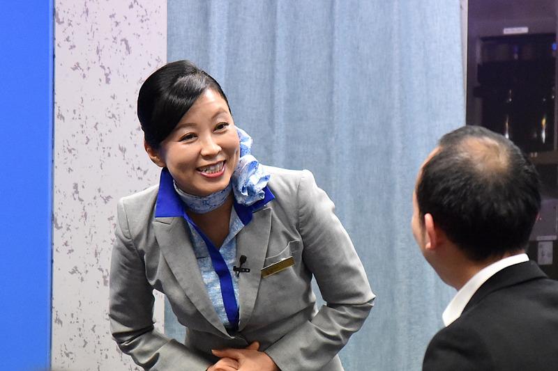 乗客が福岡出身だと瞬時に把握し、会話を続け盛り上がる