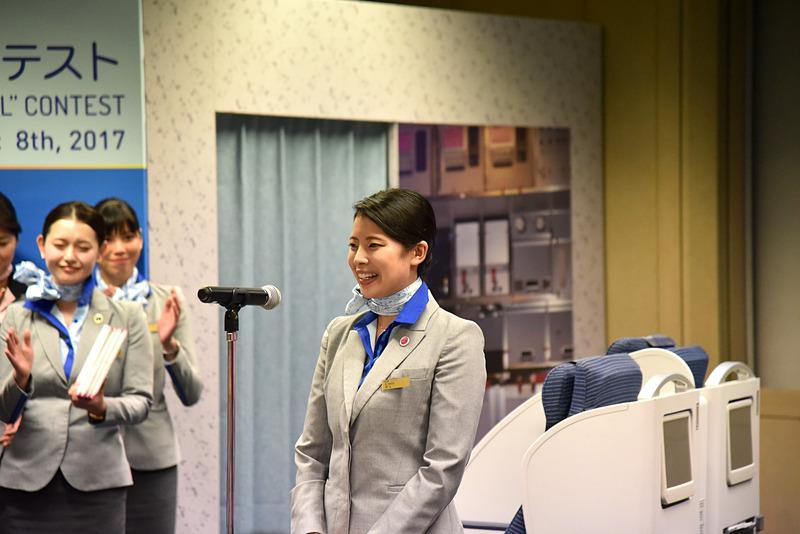 メンバーを代表して井上衿菜氏がスピーチ