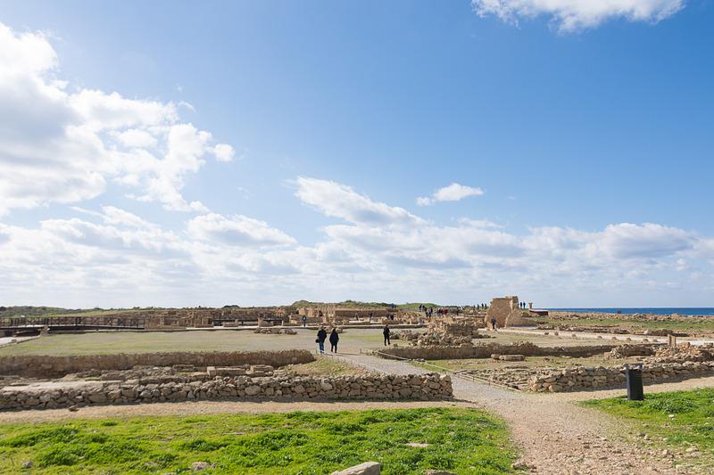 上屋はないが、広大な敷地面積を持つテセウスの館(The House of Theseus)の跡地