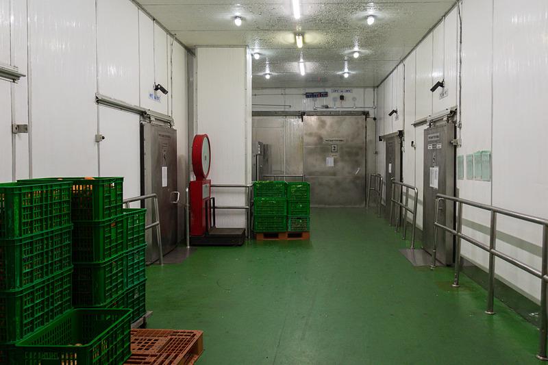 温度別に複数の冷蔵庫を設置。もっとも低いのは-18~-30℃の冷蔵庫