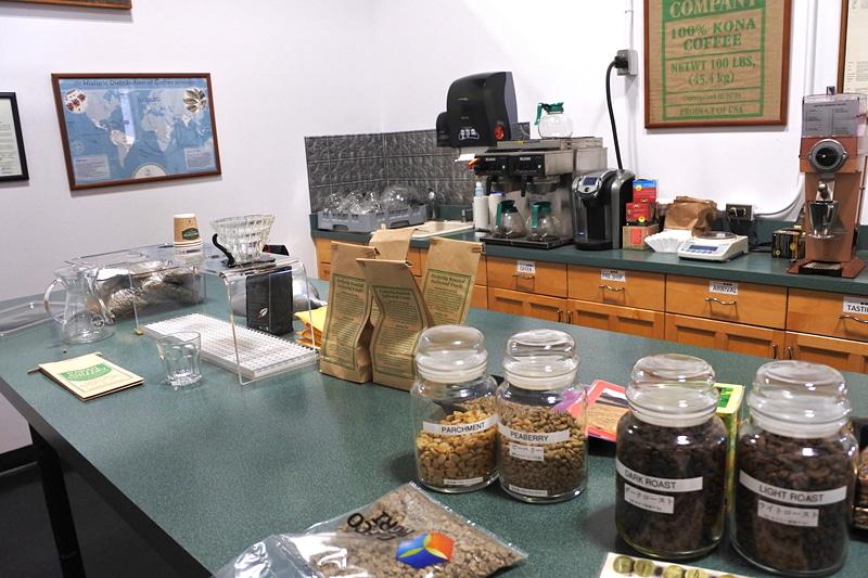 品質管理研究室で焙煎の違いやコーヒーの歴史などを学ぶ