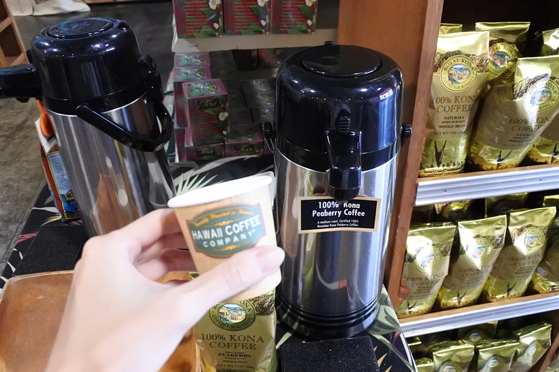 100%コナ産のピーベリーコーヒーも運よく試飲ができた