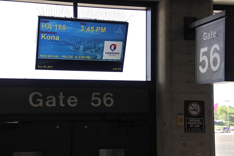 56番搭乗口からの出発