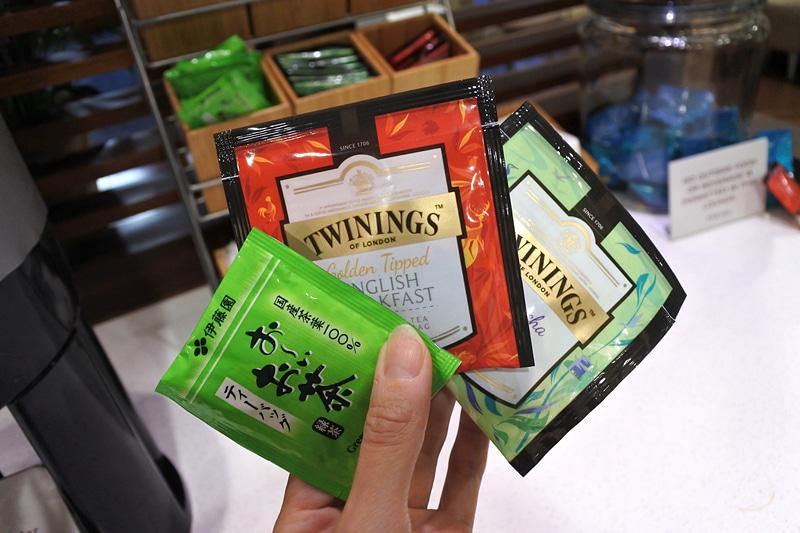 紅茶やお茶のラインアップがとてもよい