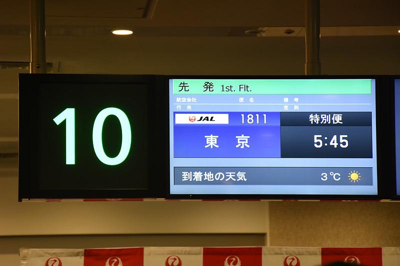 東京発東京行きの特別便は2018年1月1日なのでJL1811便