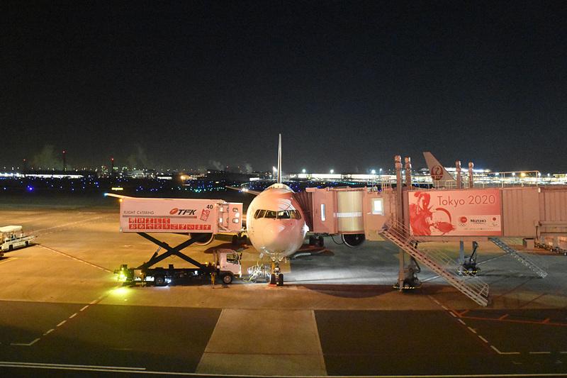 10番スポットに駐機するJAL SKY NEXT仕様のボーイング 767-300ER型機