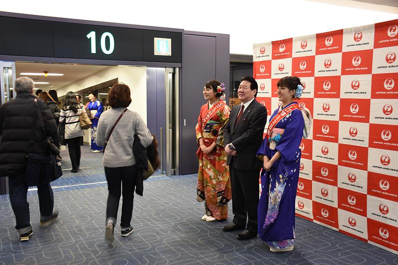 搭乗時も植木氏、高田さん、宮西さんが一人一人に挨拶した