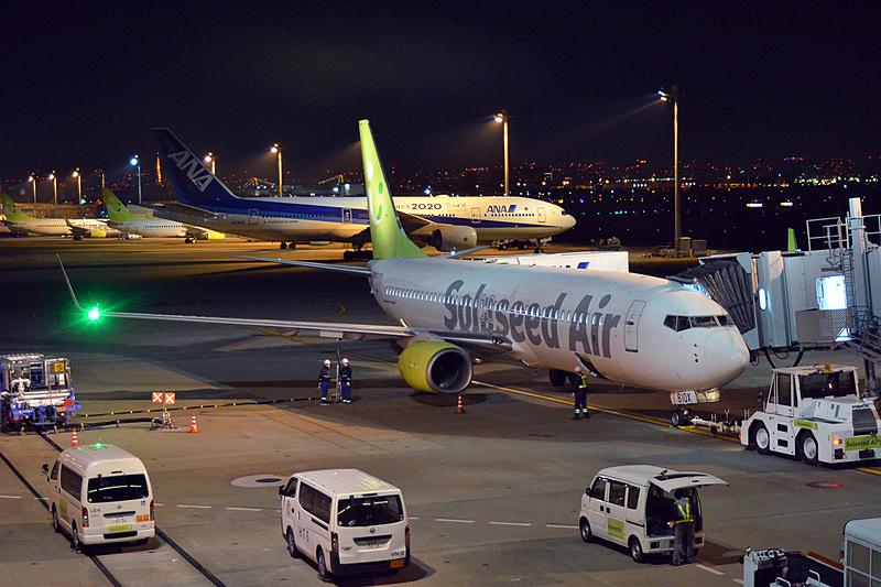 使用機材はボーイング 737-800型機