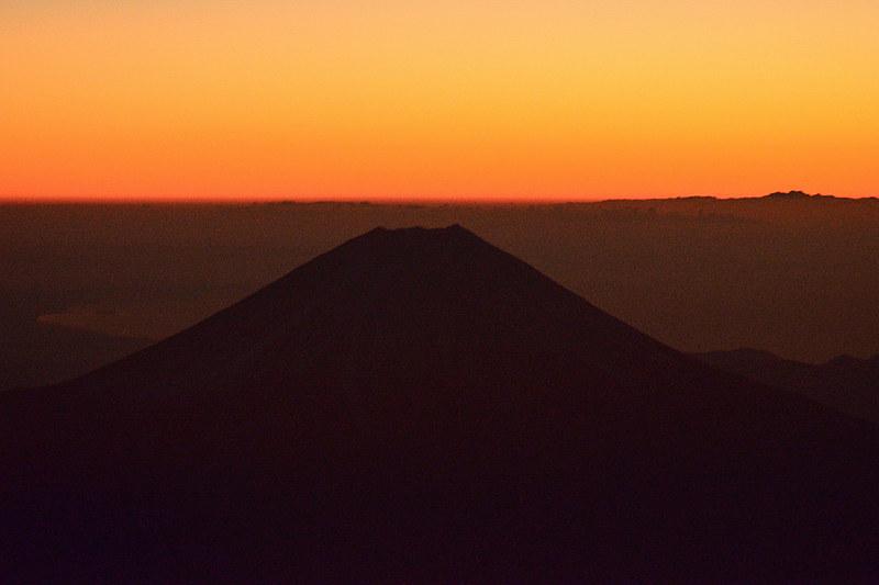 旋回ポイントに到着。しばらくこの富士山を眺めます