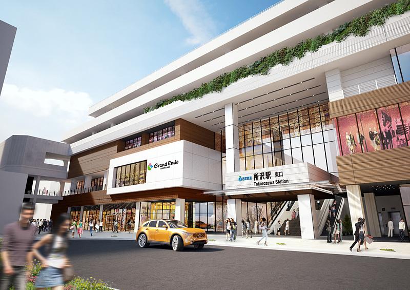 西武鉄道 所沢駅直結の商業施設「グランエミオ所沢」が3月2日に開業する