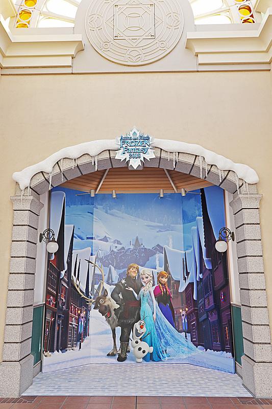 東京ディズニーランド・ステーションに設置された「アナとエルサのフローズンファンタジー」連動のフォトロケーション