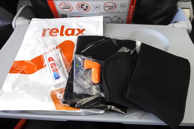 機内購入の場合「Comfort Pack」(20オーストラリアドル、約1860円)となる