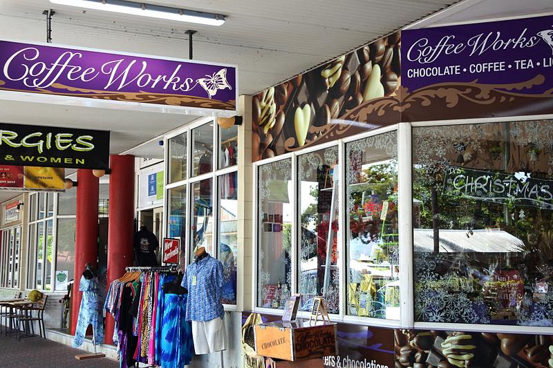 ショップに入る前からワクワクが止まらない外観の「Coffee Works Port Douglas」