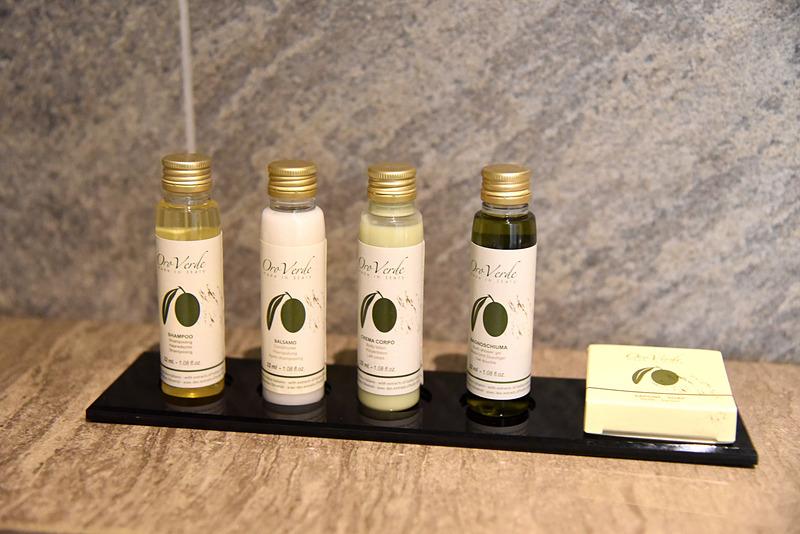 アメニティはイタリアのOro Verde製。台湾内のホテルで初導入
