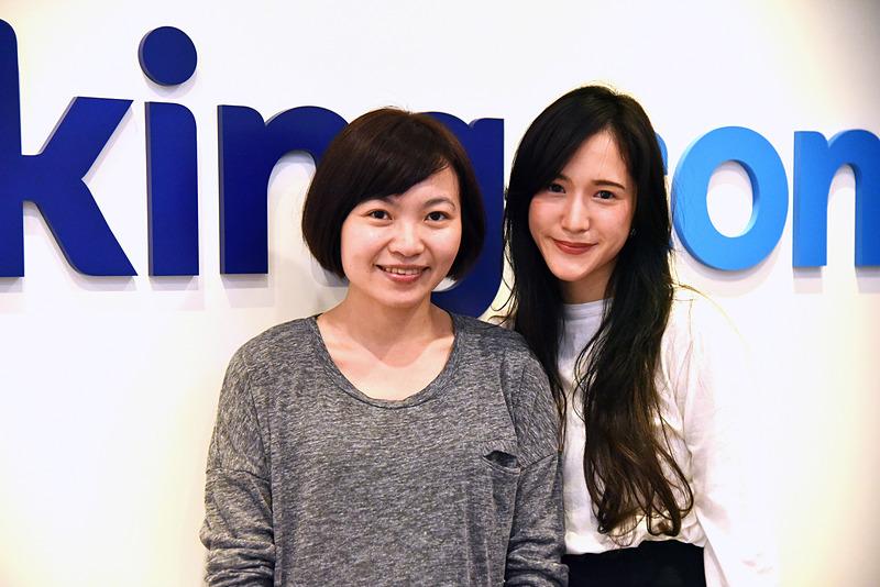 Booking.com 台北オフィスを案内してくれたWandaさんと