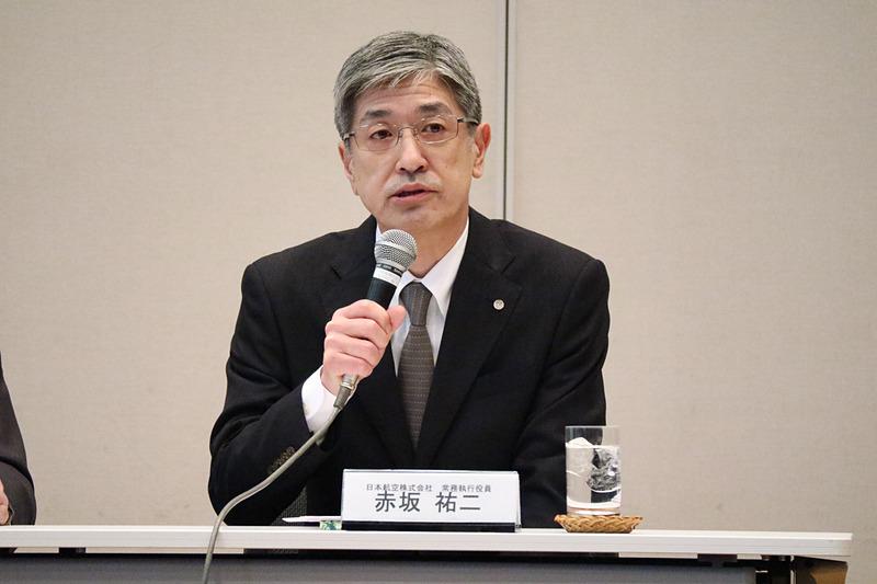 JALは4月1日以降、赤坂祐二氏が社長に就任すると発表した