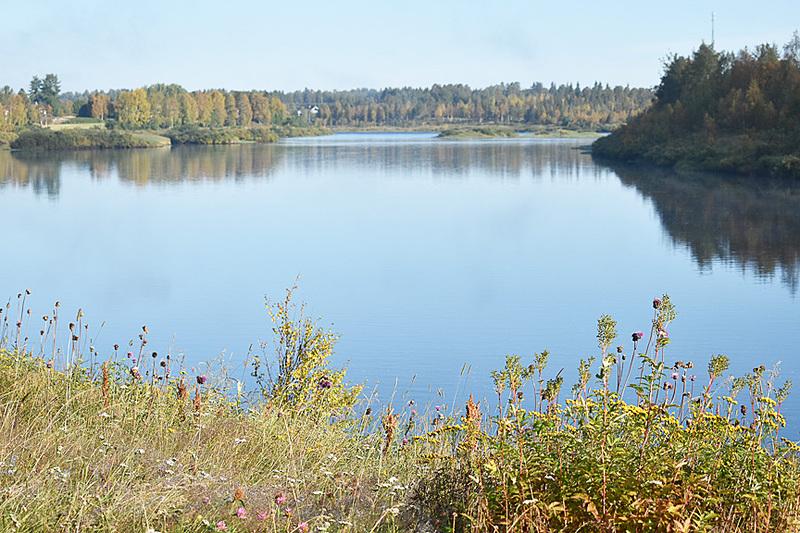 湖も近くにあります