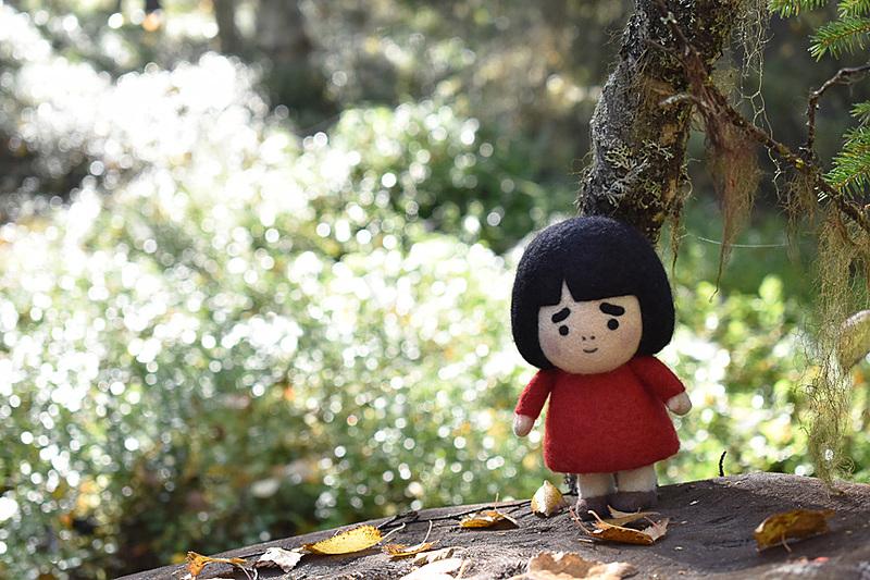 森の妖精になったつもりの図