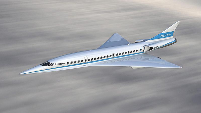 米国Boom Technologyが開発を進める超音速旅客機(イメージ)
