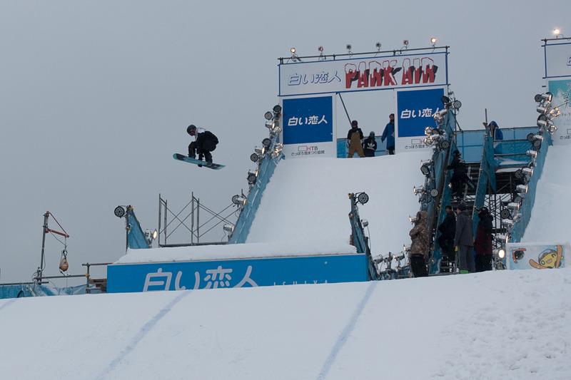 3丁目の「白い恋人 PARK AIR ジャンプ台」。フリースタイルイベントなどが実施される