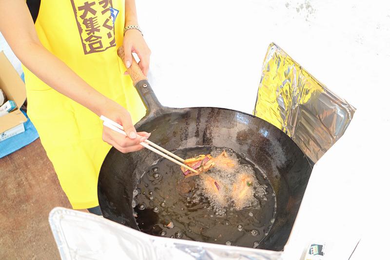 黄金千貫を使った郷土料理「がね」が振る舞われた