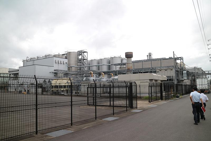 工場敷地内にあるリサイクルプラント